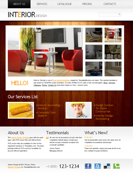 10 Free Website Templates with Source File 1