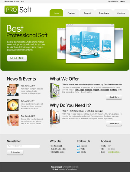 10 Free Website Templates with Source File 3