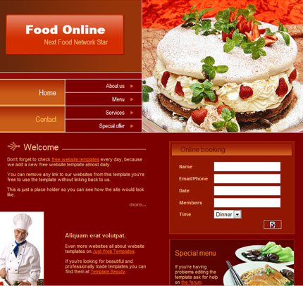 10 Free Website Templates with Source File 7