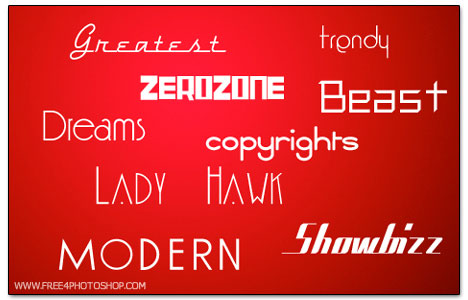 Useful Free Fonts for Photoshop Users 4