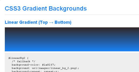 CSS Gradient Tutorials for Web Designers 2