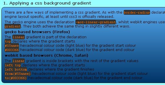 CSS Gradient Tutorials for Web Designers 4