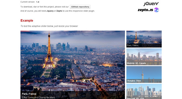Top 20 Responsive jQuery Image Slider plugins