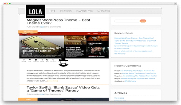 Top 10 free WordPress themes for 2016