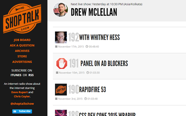 10 Awesome Podcasts For Web Designer's Inspiration