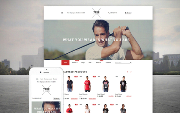 True T-Shirts Shopify Theme