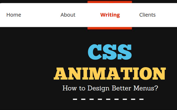 How to Design Better Menus with CSS Animation